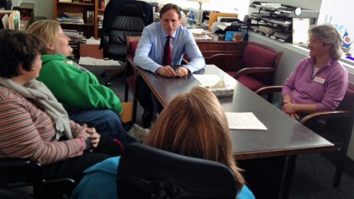 Sen. Jim Abeler meets with self-advocates from Rise